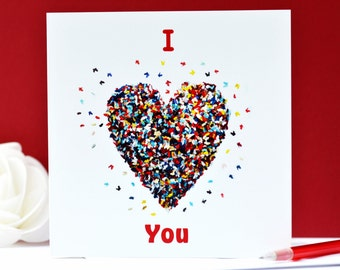 I Love You card, Romantic Valentines Card, Romantic Birthday Card, Romantic Anniversary Card, Romantic Valentines Day  Card,