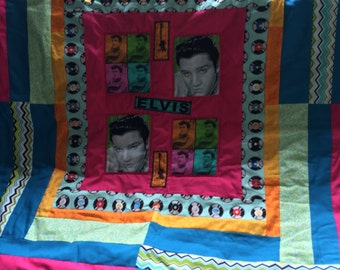 Colorful, Small Elvis Quilt