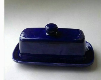 Cobalt Blue Butter Serving Dish, Butter Dish, Butter Server, Cobalt Blue,