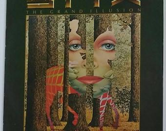 STYX - The Grand Illusion, 1977 stereo vinyl record album, SP-4637