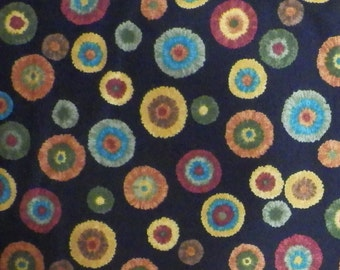 Coming Home by Deb Strain (19506-15) Black w/Colorful Circles - Quilting Fabric by the 1/2 Yard