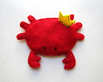 King Crab Handmade Crinkle Baby Toy