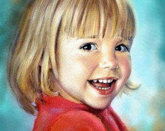 "Personalized Custom Portrait - painting art from photo by Chris Art -  Size:12""x16""Original oil painting'30x40cm"