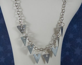 Steel Triangle Necklace (Small)
