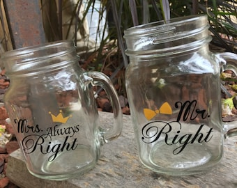 Items Similar To Mr Right And Mrs Always Right Linen