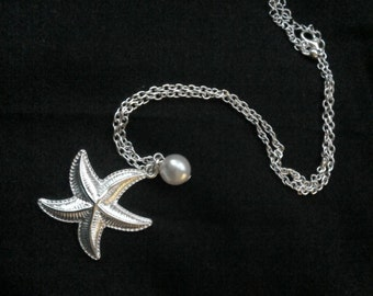 Starfish & Ivory Faux pearl Necklace