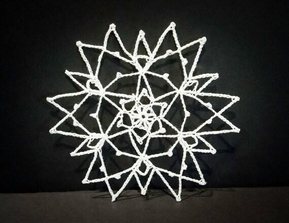 Vintage Handmade Crocheted Christmas Ornament #5