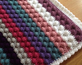Knit Popcorn Stitch Baby Blanket : Bobble stitch Etsy
