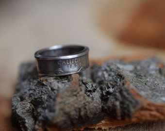 Coin Ring - US Size 7.25 - 2005 US 25 Cents - California