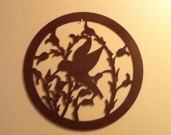 Hummingbird metal art