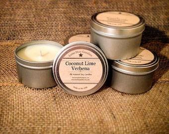 8 oz Coconut Lime Verbena Soy Candle Tin