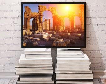 Antiquity poster Temple decor Ruins print