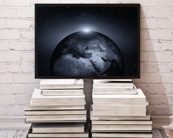 Universe poster Earth decor Globe print