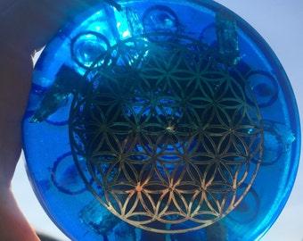 Orgonite loading plate 12 cm diameter.