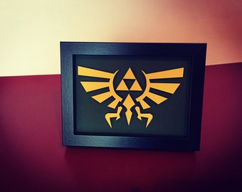 Legend of Zelda Triforce - Framed 3D Cutout