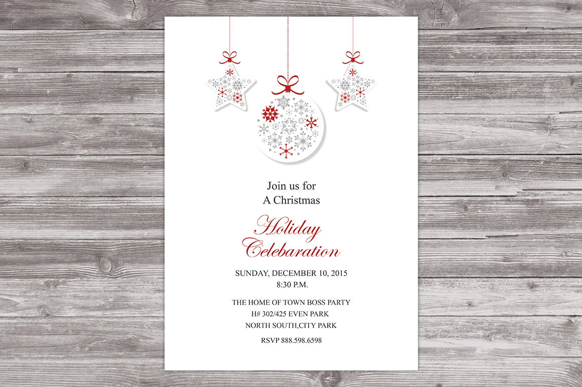 Christmas Celebaration Card - Christmas Office Invitation Card ...