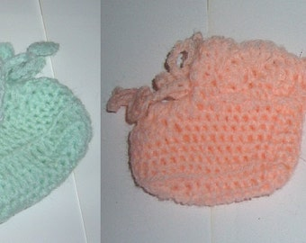 Crochet bootees