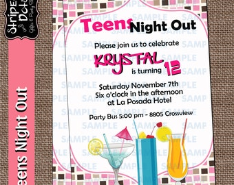Girls Night Out - Teens Night Out Invitations