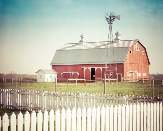 Red Country Wall Decor : Red barn photo farmhouse decor country by paulagoffphotography