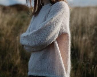 Knitting, handmade, DIY, knitting kit, supply, sweater, isager, lambswool mohair - BichesetBûches no. 20