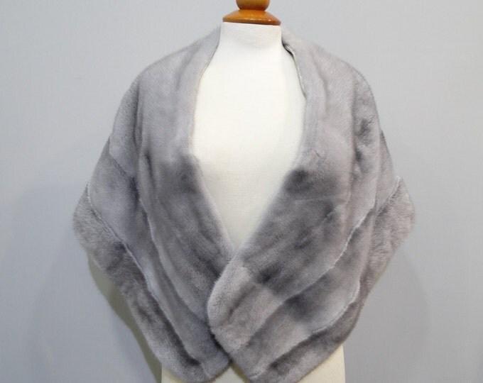 Wedding fur stole, Large fur shawl F180