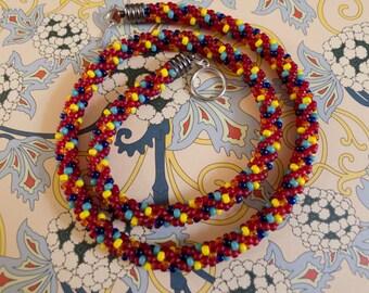 Mulitcoloured Beaded Necklace