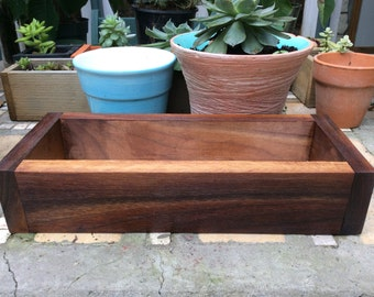 Walnut Succulent Planter