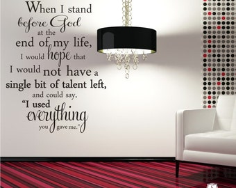 Erma Bombeck Wall Decal Quote Everything You Gave Me - Vinyl Word