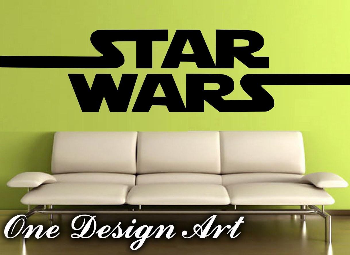 Big star wars logo wall decal mural arts home decor sticker zoom amipublicfo Gallery