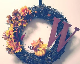 Grapevine fall wreath