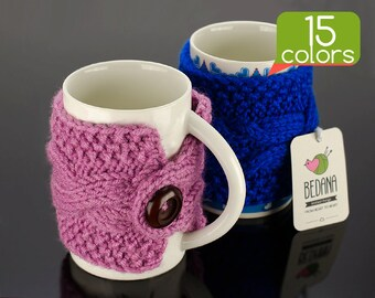Coffee warmer - Coffee cup warmer made from durable yarn. Unique design, free gift wrapping, 15 colors!