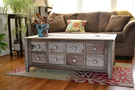 Rustic Coffee Table By Whateverwoodworks On Etsy