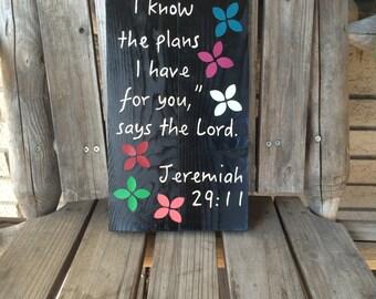 Jeremiah 29:11 bible verse plaque