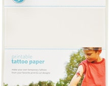 Silhouette America Tattoo Paper 2 - 8.5 x 11 Adhesive Sheets and 2 - 8.5 x 11 Printable Temporary Sheets