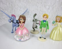 Set of 5 figurine of Sofia the First CAKE TOPPER Set, Priority Mail Shipping