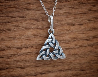 Celtic Trinity Knot Pendant or Earrings - STERLING SILVER- Chain Optional