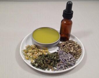 Natural Vegan Skincare ~ Universal Salve ~ Lavender Nettle Chamomile Plantain ~ Spring Remedy ~ Healing Herbs ~ Chemical Free ~ Gift Idea