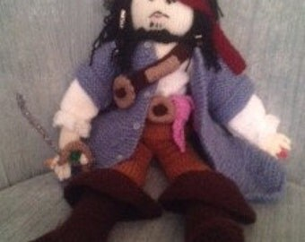 Hand-Knitted Captain Jack Sparrow