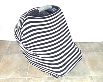 Car Seat Cover. Nursing Cover. Highchair Cover. Shopping Cart Cover. Baby Shower Gift. Stripes