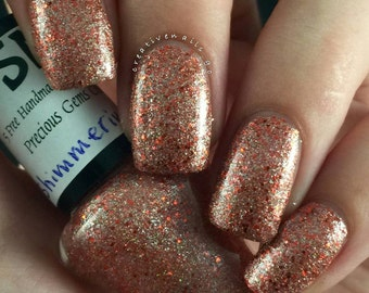 30% OFF!! HUGE stock clearance SALE!!Shimmering Garnet/ Glitter Crelly Nail Polish