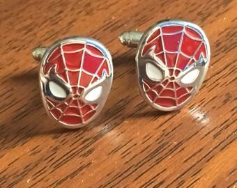 Spiderman cufflinks, spider gifts, super hero gifts,spider -man gifts, spiderman cufflink