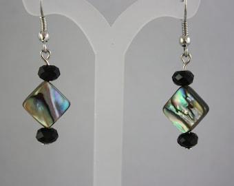 earrings, abalone earrings, hand made jewelry, handmade jewelry, drop earrings, dangle earrings,