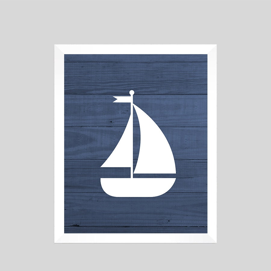 Nautical Print Nautical Decor Nautical Nursery Sailboat