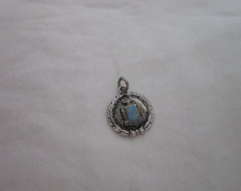 Vintage Sterling Silver and Enameled DG High School Charm for Charm Bracelet
