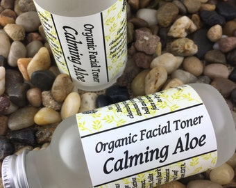 Calming Facial Toner, Organic & Vegan For Sensitive Skin Infused with Aloe and Chamomile