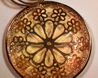 Coppertone filigree necklace-D105
