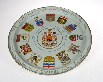 Canada Tray - 1867 Centennial of Canadian Confederation 1967 Tray