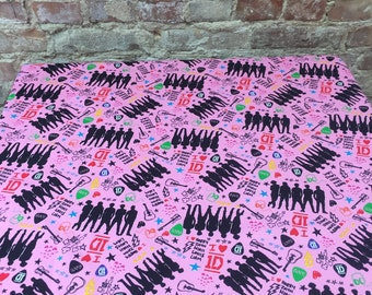Pink party tablecloth, patchwork tablecloth,Birthday Party Home Decoration