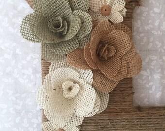 Burlap Roses, Handmade, Choose Color