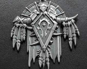 The Horde medallion inspired by World of Warcraft game